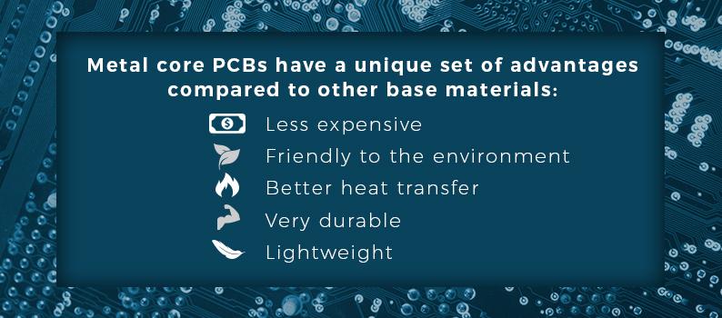advantages of metal core pcbs