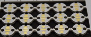 front of an aluminum pcb