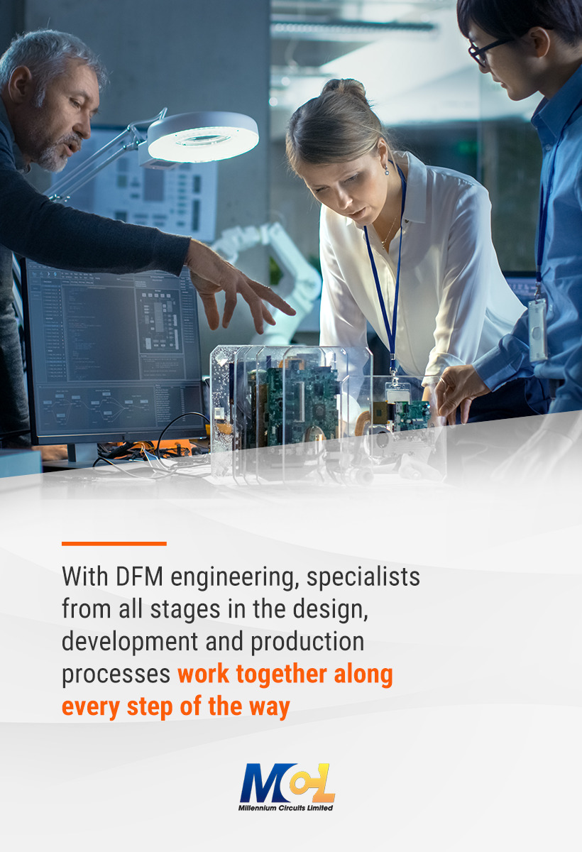 DFM specialists working together