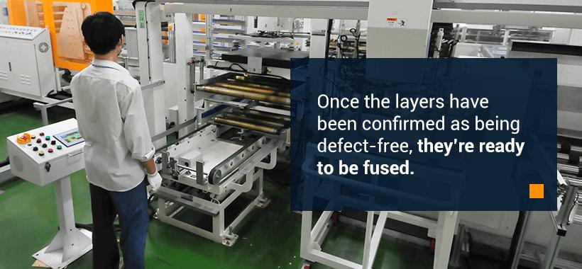 machinist laminating pcb layers