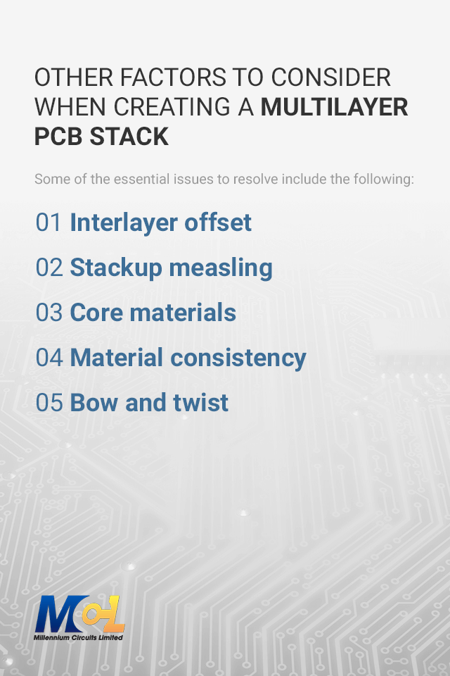 Other Factors to Consider When Creating a Multilayer PCB Stack