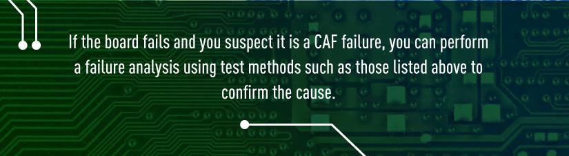 CAF Failure Test