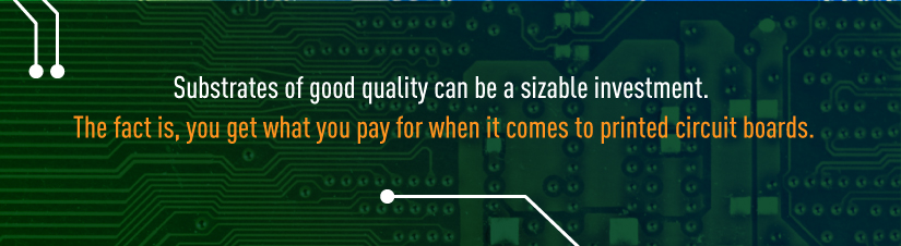 cost of printed circuit board