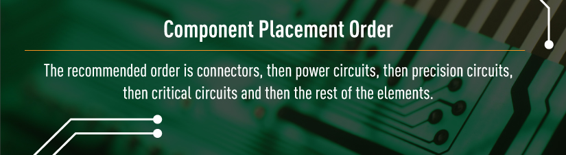 placement order for circuit boards