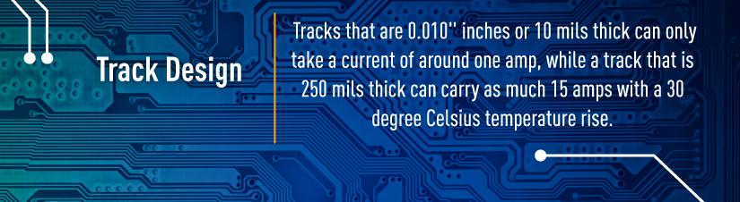circuit board track design