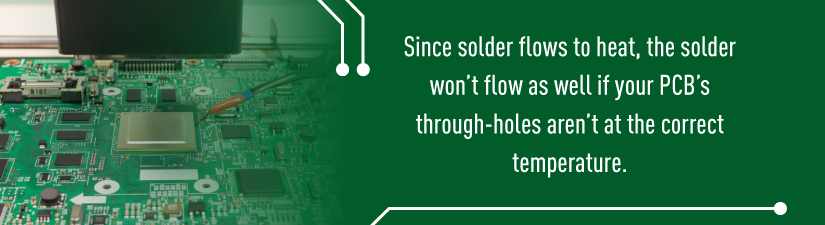 older flows to heat, the solder won't flow as well if your PCB's through-holes aren't at the correct temperature